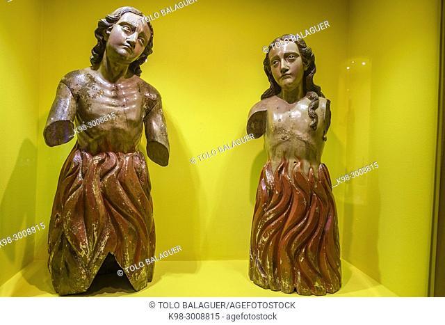 animas del purgatorio, talla en madera encarnada y policromada, siglo XVII, museo colonial, Casa de Santo Domingo, antiguos templo y convento de Santo Domingo y...