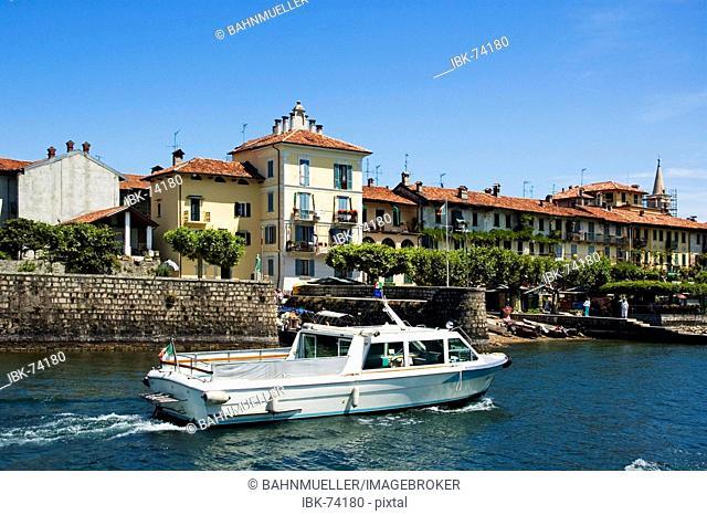 At the Lake Lago Maggiore Piedmont Piemonte Italy Island Isole Borromee Isola dei Pescatori near Stresa