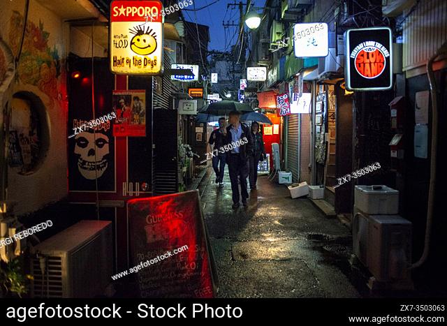 Bars and restaurants in The Golden Gai district, Shinjuku Honshu island, Kanto, Tokyo, Japan