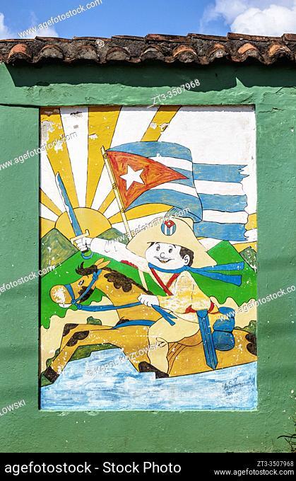 Mural Painting at Antonio Maceo Street, Baracoa, Guantanamo Province, Cuba