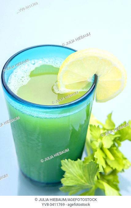 A glass of celery juice