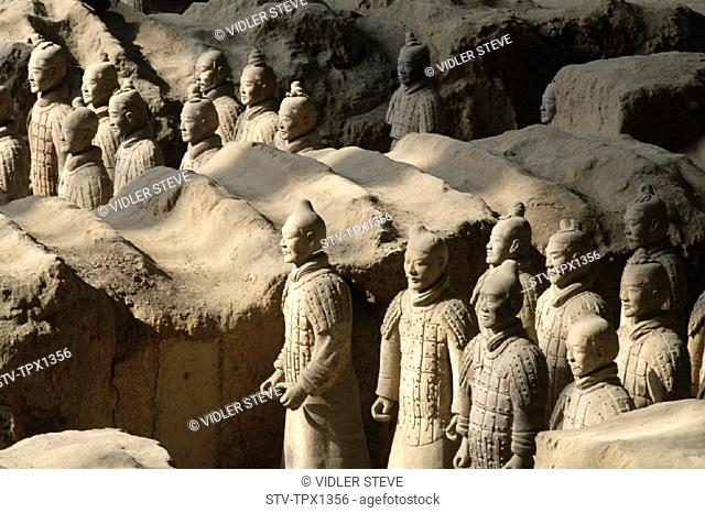 Army, Asia, Battle, China, Dynasty, Formation, Heritage, Holiday, Landmark, Province, Qin, Shaanxi, Terracotta, Terracotta warri