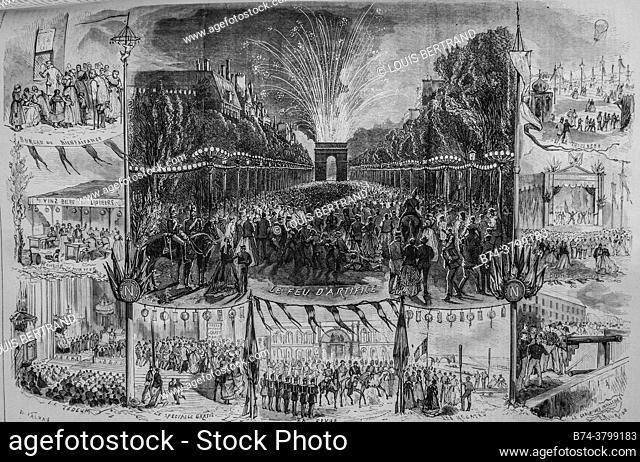 la fete national du 15 august, the illustrated universe, publisher michel levy 1868