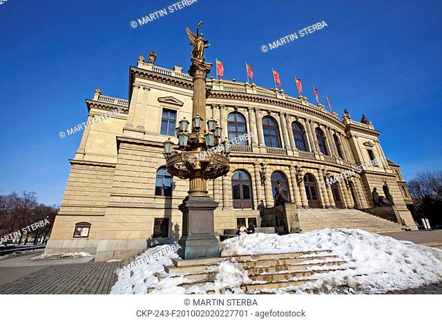 Prague - Jan Palach Square Concert Hall Rudolfinum built in pseudo Renaissance style between 1876 and 1881 is the residence of Czech Philharmony and hosts...