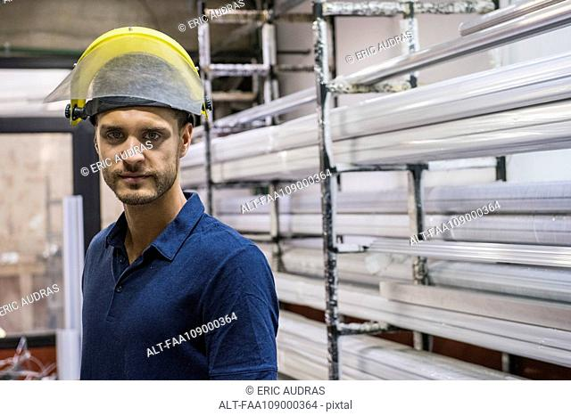 Factory worker, portrait
