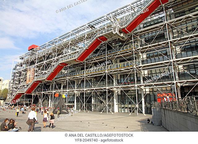 The Pompidou Centre, museum in Paris, France