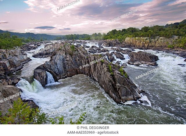 The Great Falls of the Potomac River are located at the Fall line of the Potomac River, 14 miles (23 km) upstream from Washington, D.C