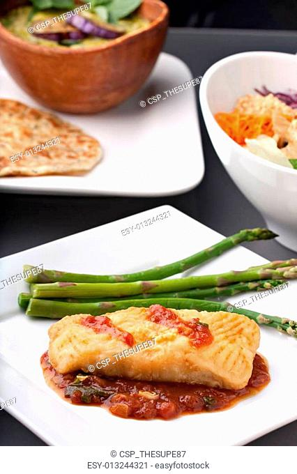 Thai Sea Bass and Asparagus