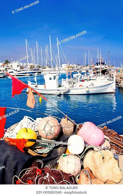fisherboats with nets longlines buoy tackle