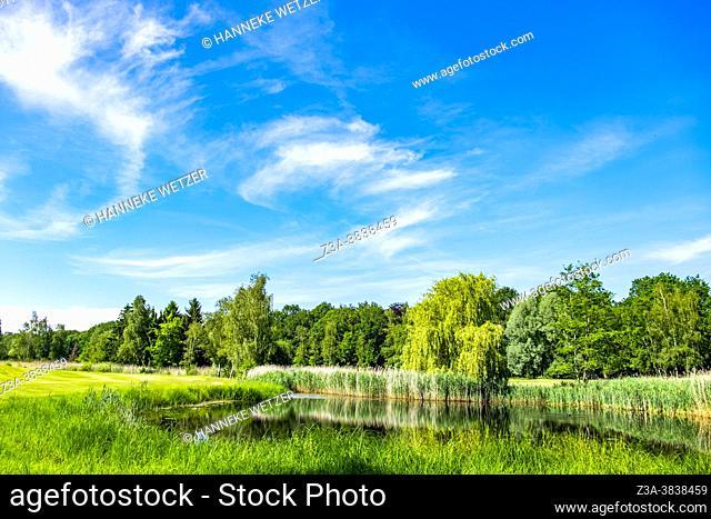 Golf course terrain in Meerhoven, Eindhoven, The Netherlands, Europe