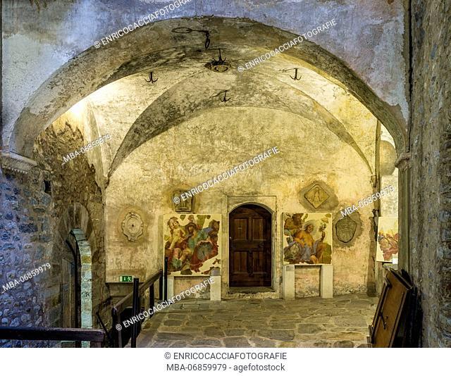 Interior view of the Castello Visconteo in Locarno
