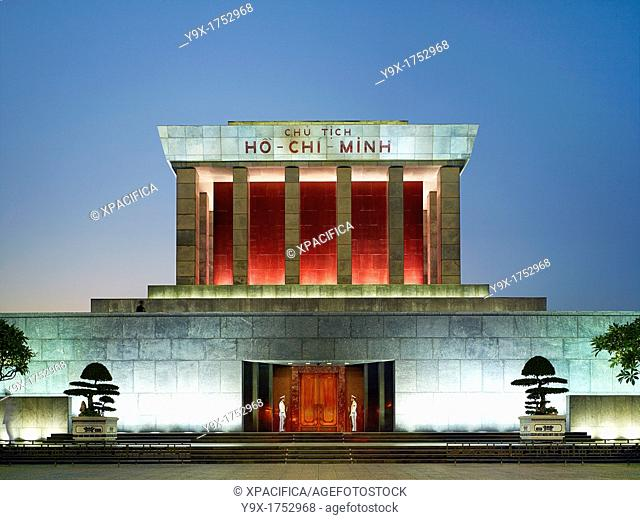 The Ho Chi Minh Mausoleum at early evening
