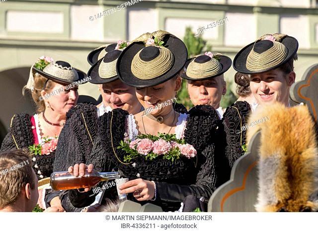 The Leonhardi procession at Benediktbeuern Abbey, Upper Bavaria, Bavaria, Germany