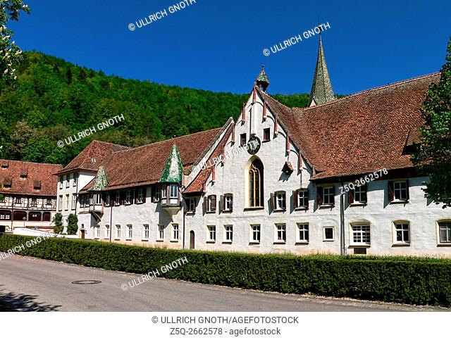 The former Benedictine monastery Blaubeuren Abbey in Blaubeuren near Ulm, Germany, which was founded about 1085, is nowadays a Protestant Seminar