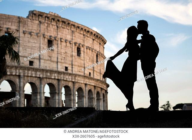 Couple at colosseum. Rome. Italy