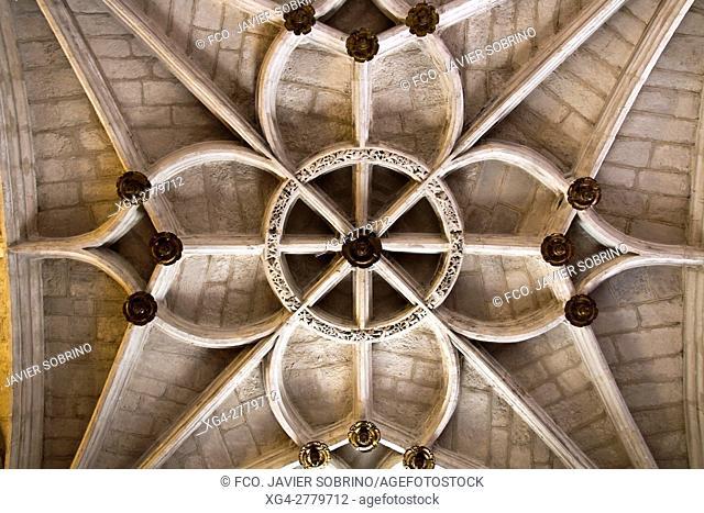 Interior de la iglesia del monasterio de San Juan de los Reyes. Toledo. Castilla-La Mancha. España. Europa