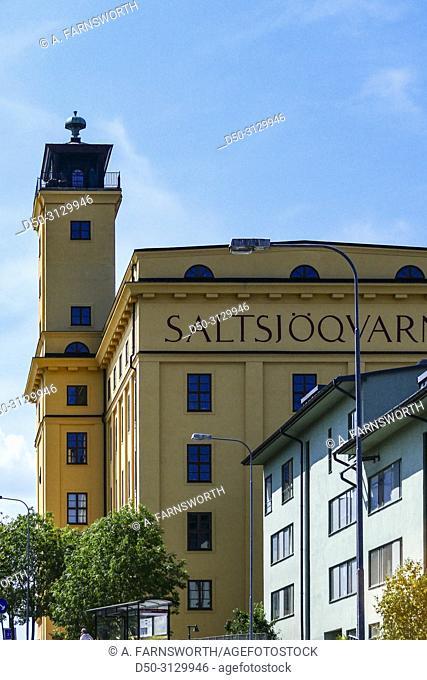 Stockholm, Sweden The historic Saltsjokvarn mill building on Kvarnholmen