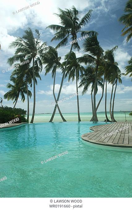 Swimming pool of International Hotel, Tahiti, French Polynesia