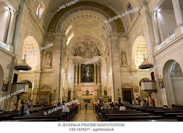 The interior of The Basilica of Our Lady of the Rosary, Santuario de Fatima, Fatima Shrine, Sanctuary of Our Lady of Fatima, Fatima, Ourem, Santarem, Portugal
