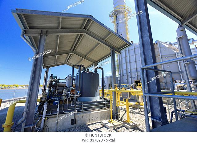 Natural gas distribution system for an electric cogeneration plant