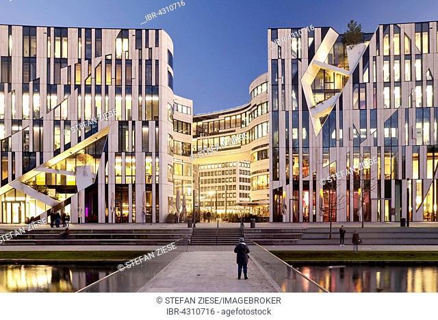 Kö-Bogen office and retail complex by architect Daniel Libeskind, Düsseldorf, North Rhine-Westphalia, Germany