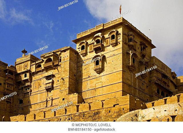 The MAHARAJA'S PALACE is located in JAISALMER FORT in the GOLDEN CITY, India, Rajasthan