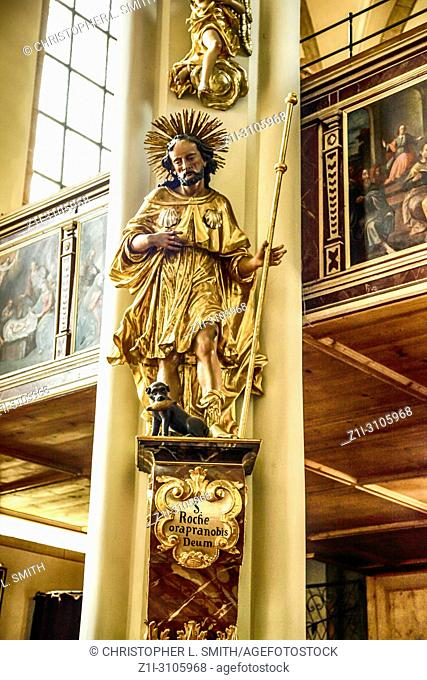 The magnificent decor inside the church of Andrew the Apostle (Heiliger Andreas) in Kitzbuhl, Austria
