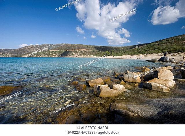 Italy, Sardinia, Quartu Sant Elena, Mari Pintau beach
