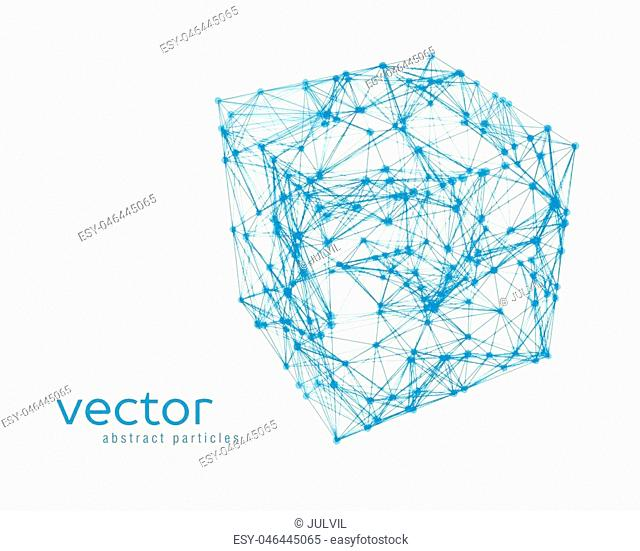 Abstract vector illustration of cube on white background