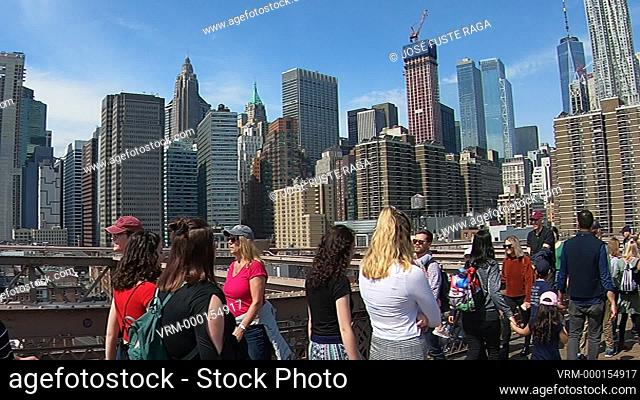 USA, New York City, Manhattan, Brooklyn Bridge