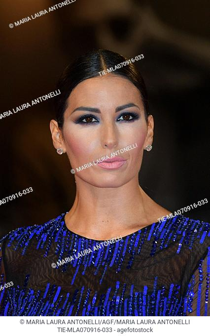 The showgirl Elisabetta Gregoraci during the red carpet of film Tommaso at 73rd Venice Film Festival, Venice, ITALY-06-09-2016