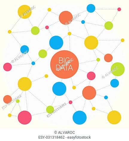 Big data abstract molecule illustration