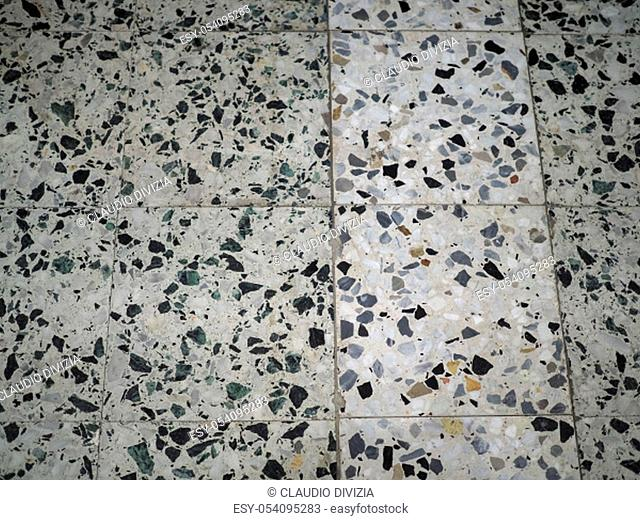 white and black marble tiles texture useful as a background