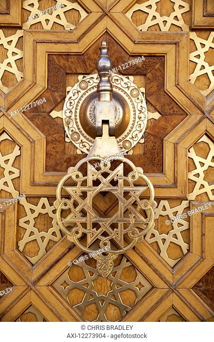 Door knocker, Saparmurat Niyazov (Turkmenbashi) mosque, near Ashgabat; Turkmenistan