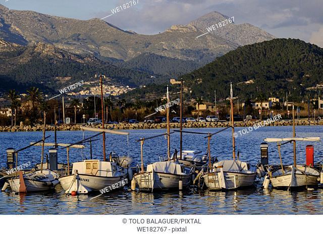 barcas tradicionales de pesca - Llauts-, puerto de Andratx, Mallorca, balearic islands, spain, europe
