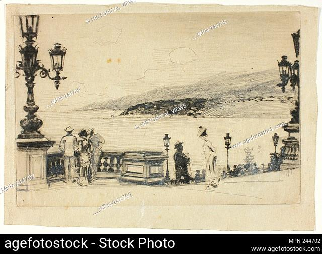 Study for The Terrace, Monte Carlo - 1905–06 - Theodore Roussel French, worked in England, 1847-1926 - Artist: Theodore Roussel, Origin: England