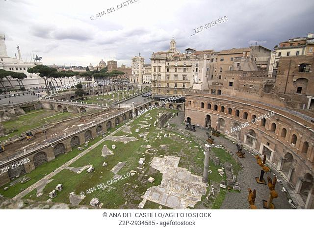 Museum of the Imperial Fora Trajan's Market in Rome. Italy