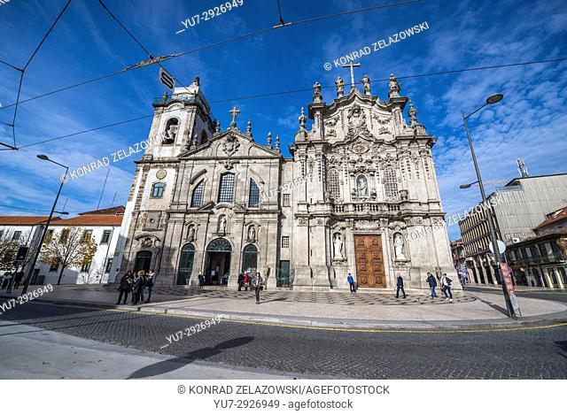 Carmelite Church (Igreja dos Carmelitas Descalcos) and Carmo Church (Igreja do Carmo) in Vitoria civil parish of Porto city, Portugal