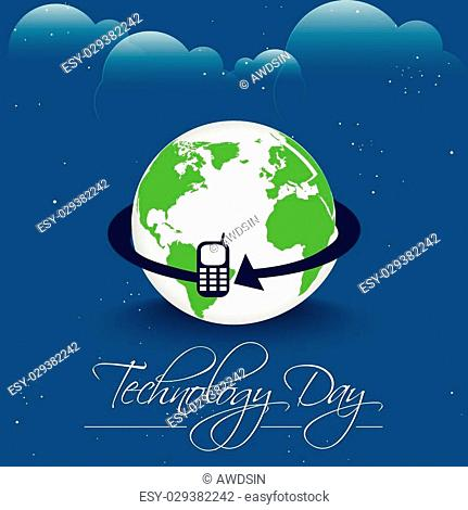 creative vector abstract for Technology Day with nice and creative illustration ina background