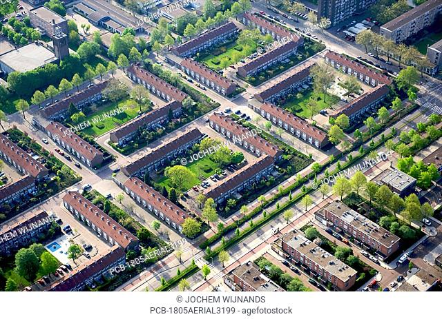 Holland, Amsterdam, aerial view of Slotervaart