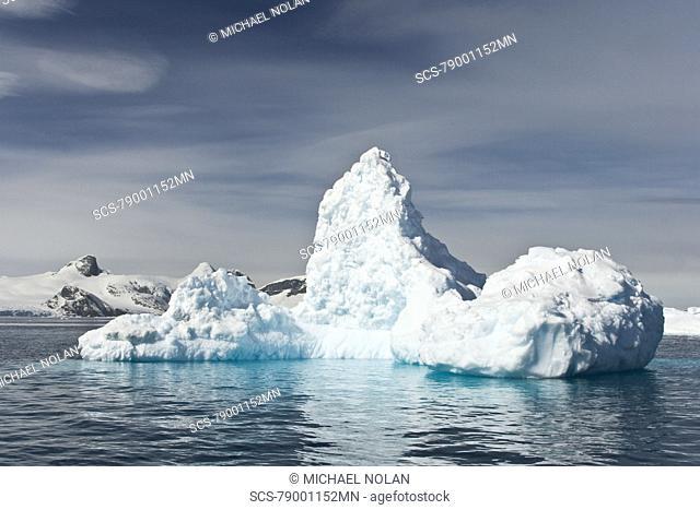 Huge iceberg near Petermann Island on the west side of the Antarctic Peninsula