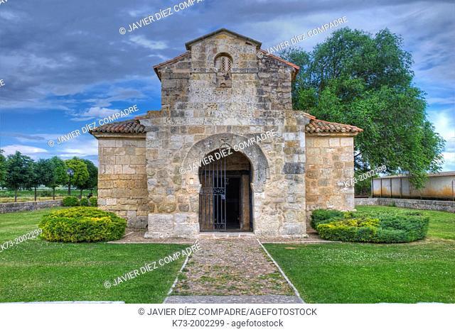 Visigothic Church of San Juan Bautista San Juan de Baños. 7th Century. Baños de Cerrato. Palencia Province. Castilla y Leon. Spain