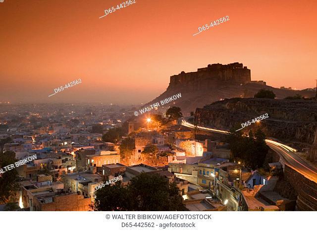 Meherangarh Fort. Evening. Jodhpur. Rajasthan. India