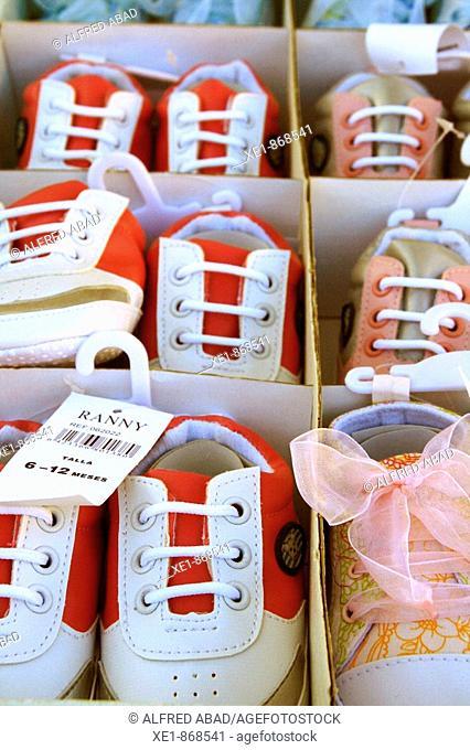 Baby shoes. Corneilla-de-Conflent, Languedoc-Roussillon, France
