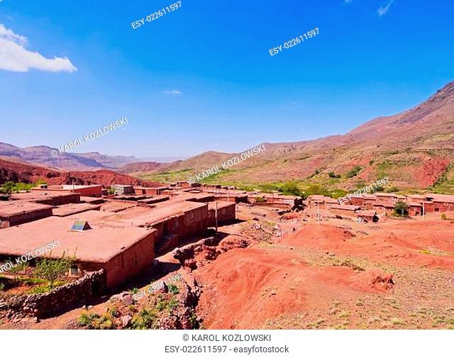 Village in Atlas Mountains, Morocco
