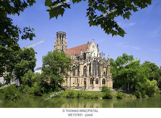 St. John's church ( Johanneskirche ) at Feuersee in Stuttgart West