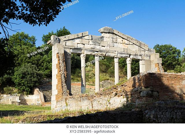 Apollonia, or Apoloni, Fier Region, Albania. Ancient Greek city founded in the 6th century BC which became one of Rome's most important Albanian cities