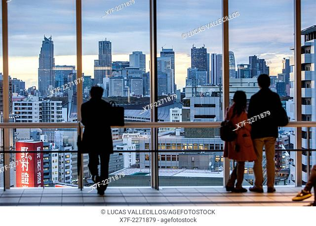 View of Shinjuku, from a skyscraper of Shibuya Tokyo, Japan