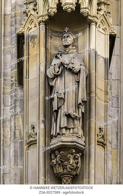 Dominicus statue of the Cathedral Basilica of St. John the Evangelist, 's-Hertogenbosch, the Netherlands, Europe