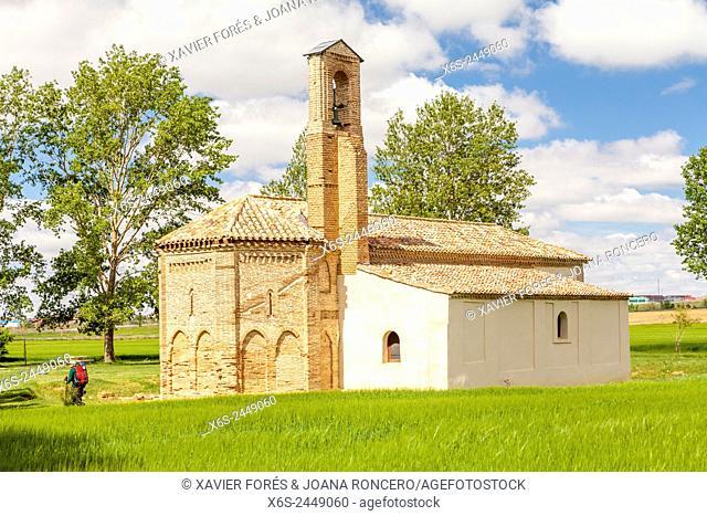 Chapel of Virgen del Puente near Sahagun, Way of St. James, Leon, Spain